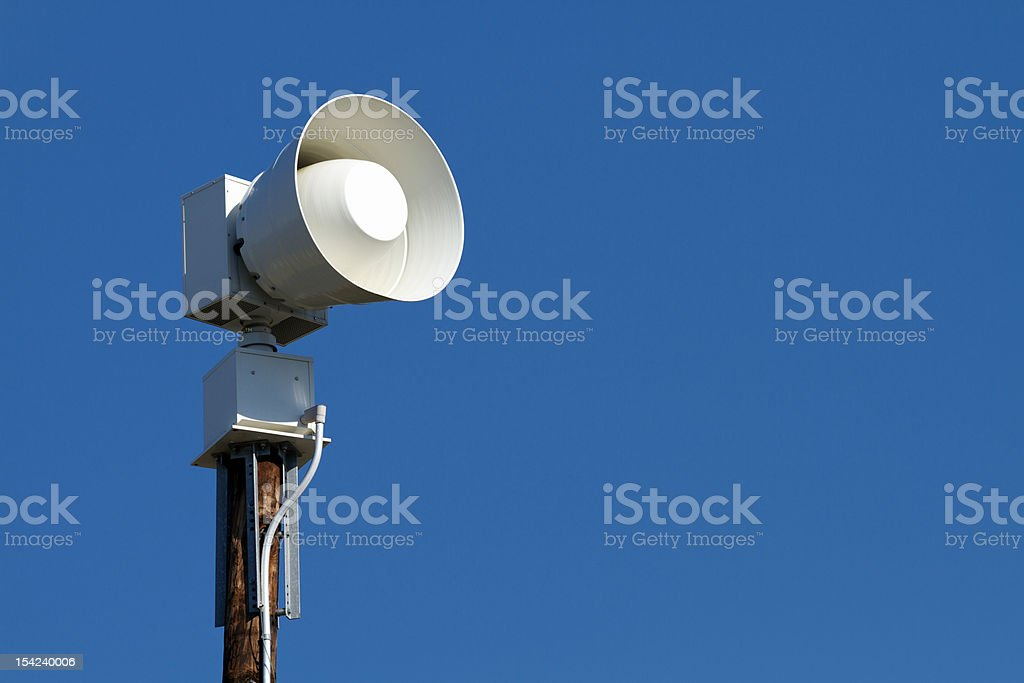 Public Emergency Weather Warning Siren stock photo