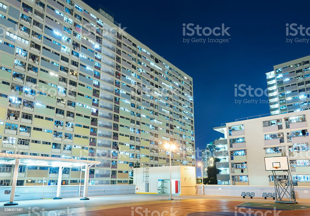 Public estate in Hong Kong stock photo