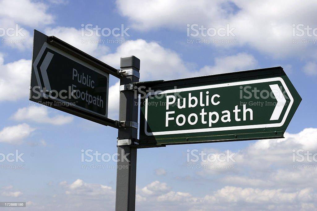 Public Footpath royalty-free stock photo
