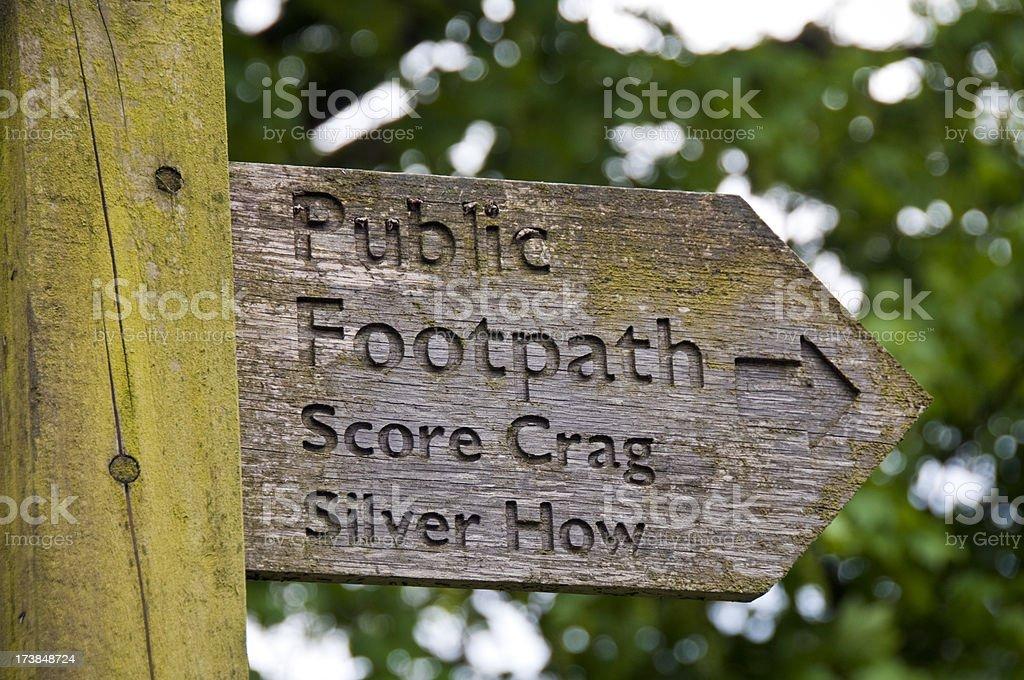 Public Footpath stock photo
