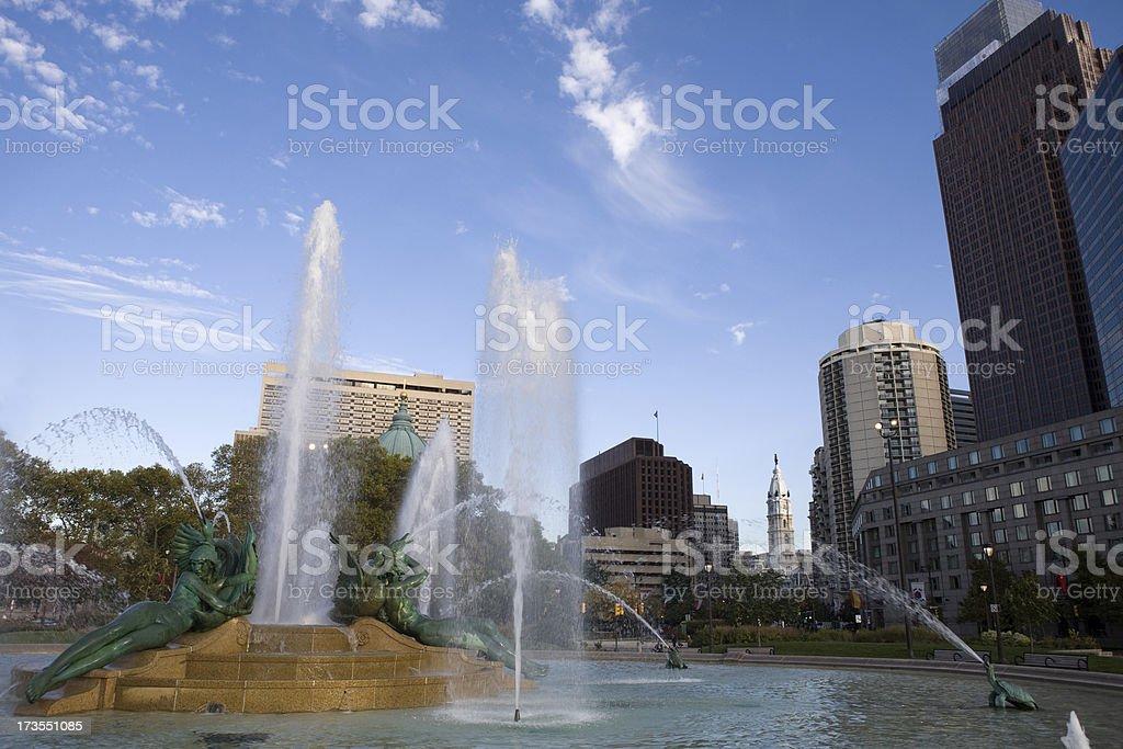 Public Founatin and Skyline royalty-free stock photo