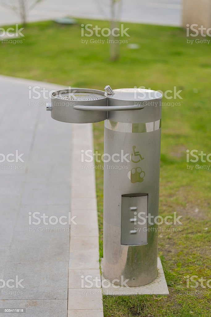 Public fountain. stock photo