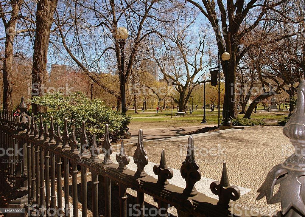 Public Garden Boston MA royalty-free stock photo