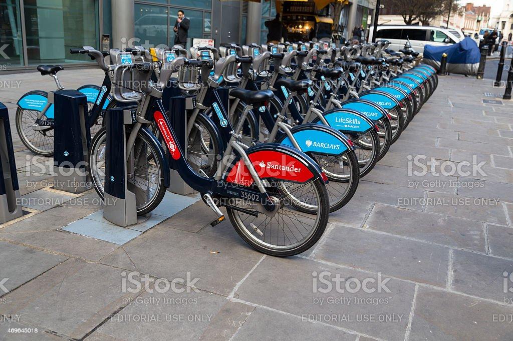 Public Hire Bikes in London stock photo