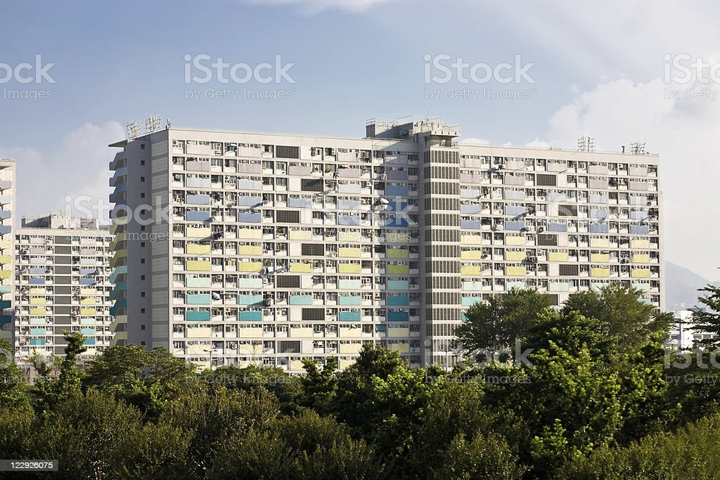 Public housing estate in Hong Kong royalty-free stock photo