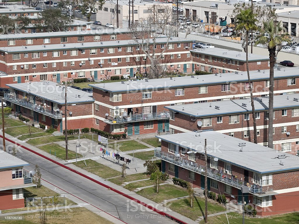 Public Housing Project royalty-free stock photo