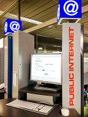Public Internet Point in Zurich Airport, Switzerland