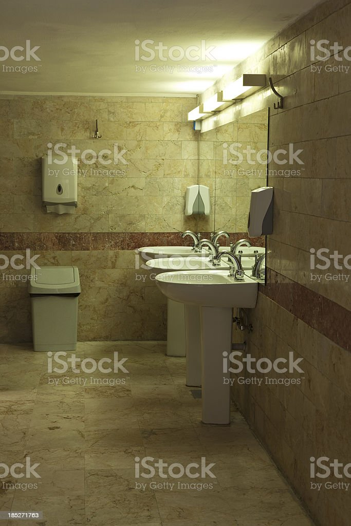 public lavatory stock photo