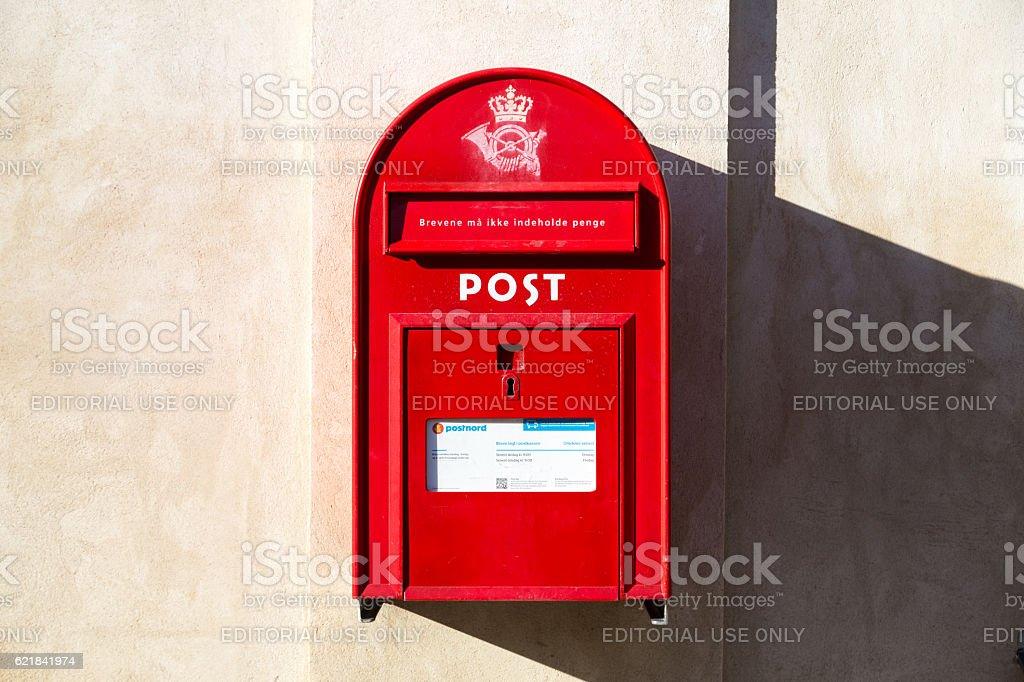 Public letterbox in Denmark stock photo