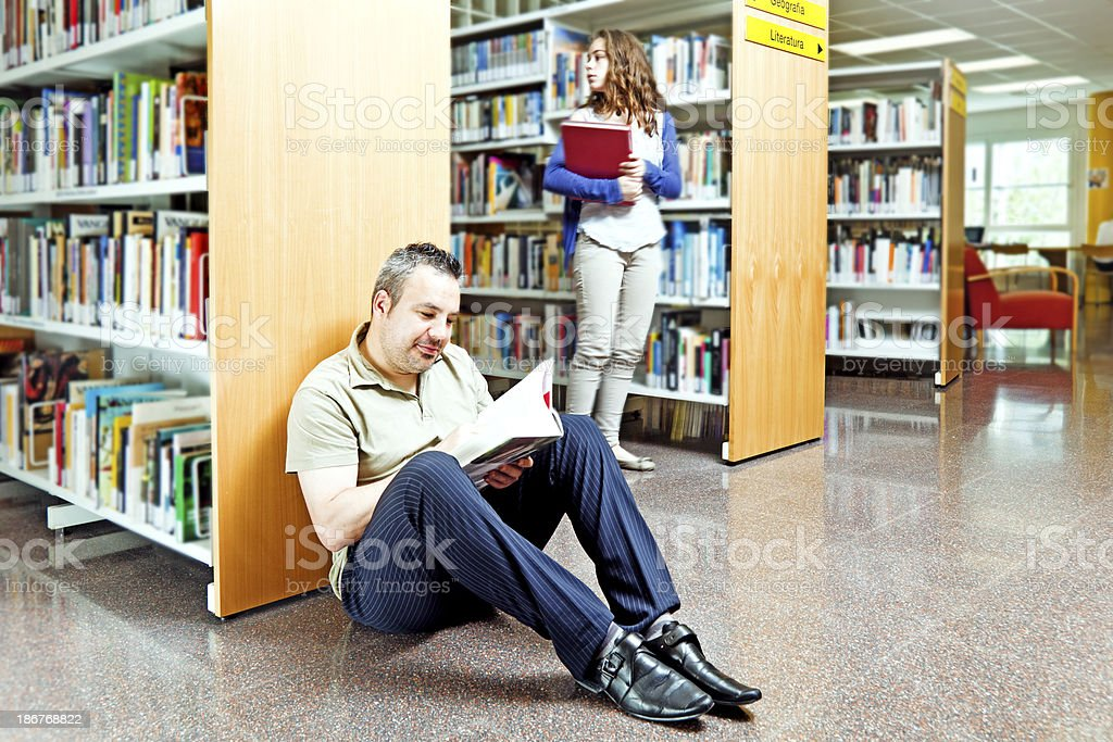 Public library activity royalty-free stock photo