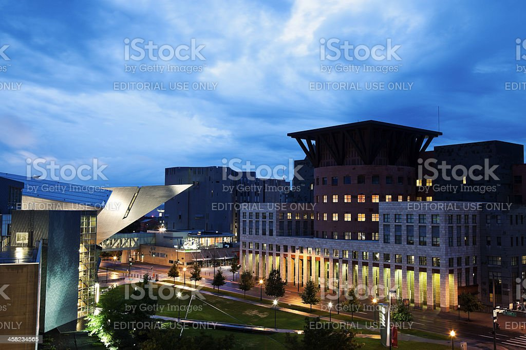 Public Library and Denver Art Museum stock photo