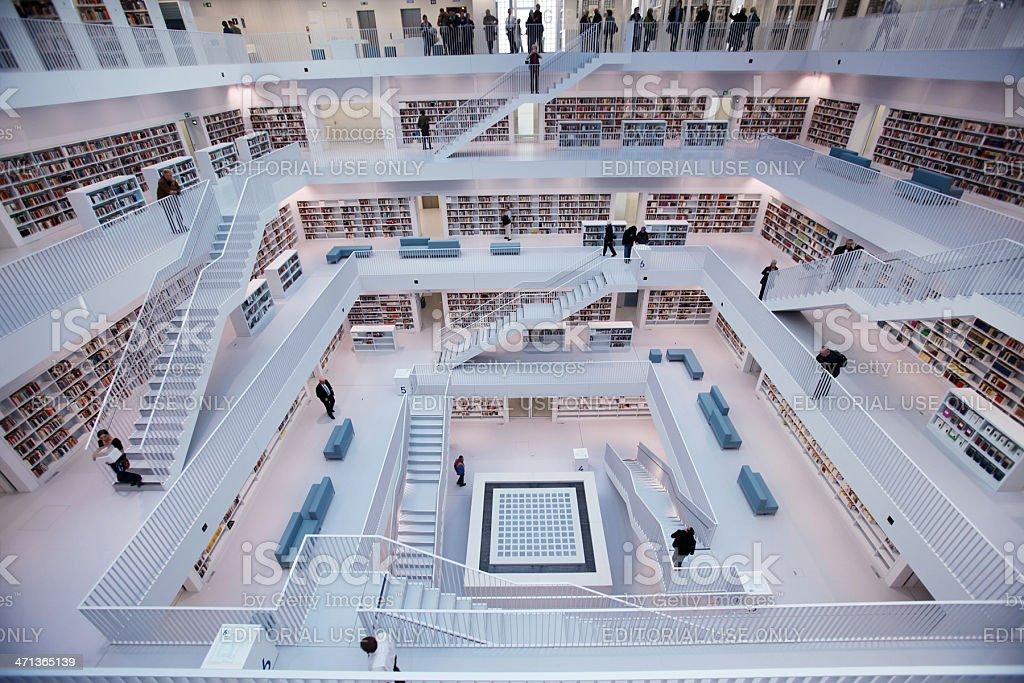 Public library interior royalty-free stock photo