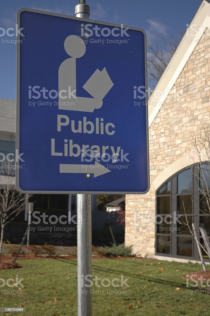 Public Library Location royalty-free stock photo