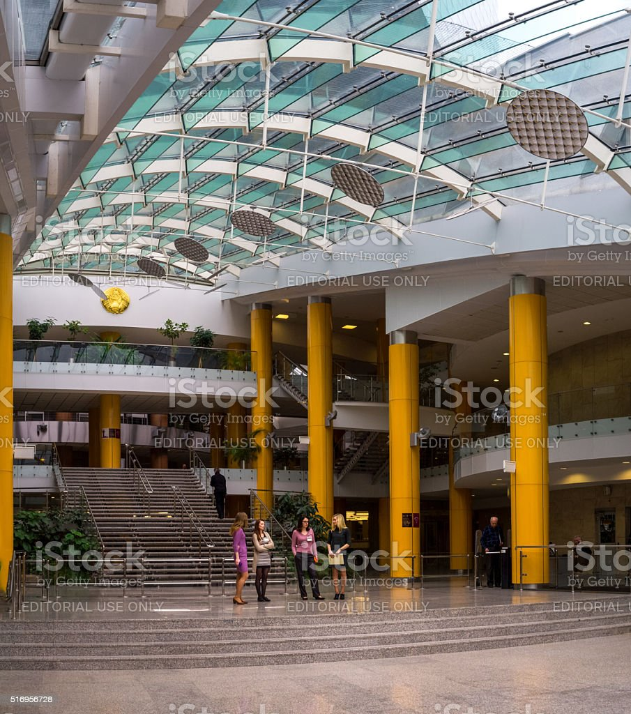 Public Library Modern Interior Architecture in Minsk Belarus stock photo