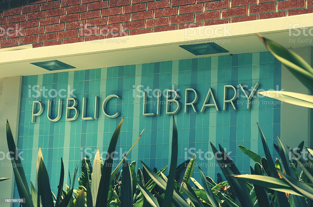 Public Library royalty-free stock photo