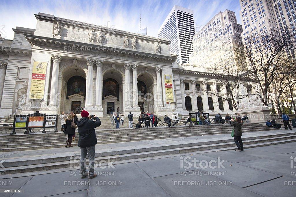 NYC Public Library royalty-free stock photo