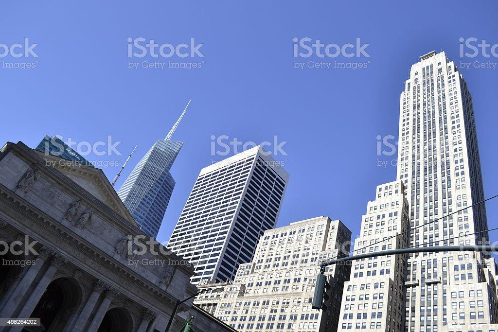 NY public library stock photo