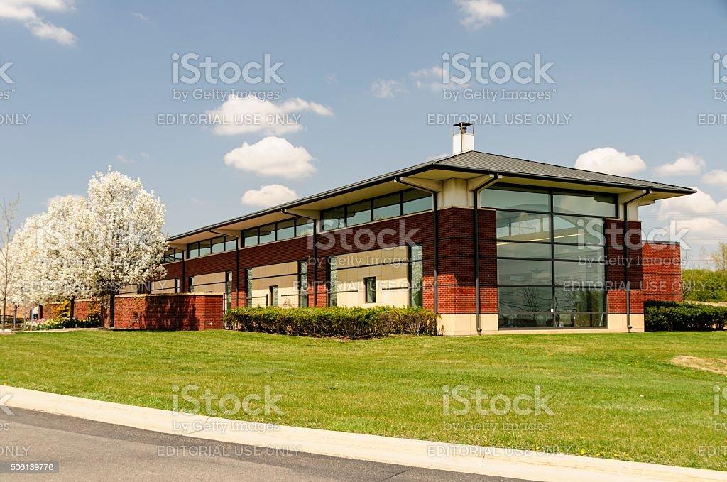 Public Library Romeo, Michigan stock photo