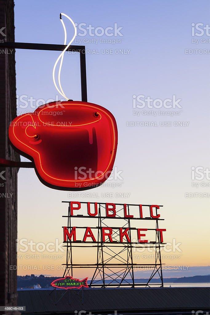 Public Market Sign royalty-free stock photo