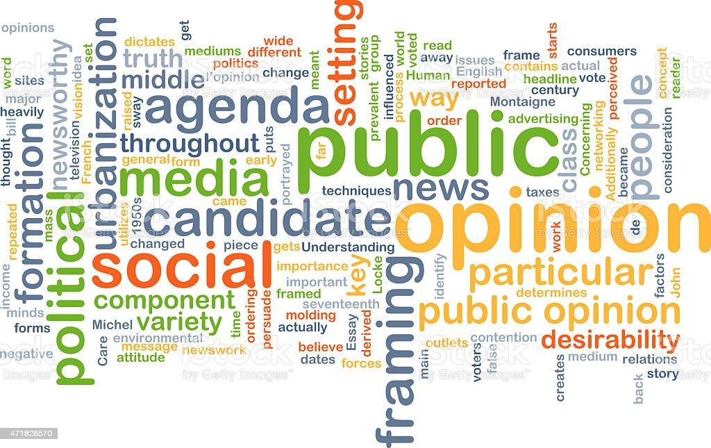 Public opinion background concept stock photo