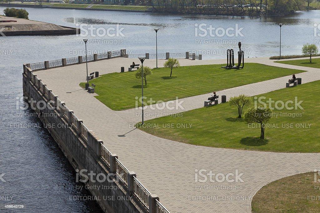 Public park at Riga-Latvia stock photo