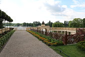 Public park Burggarten in Schwerin at Lake Schweriner See, Germany