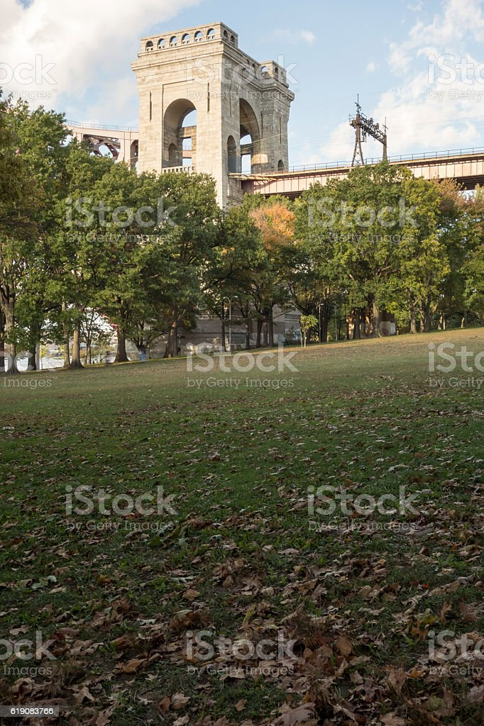 Public park in Astoria, Queens-New York stock photo