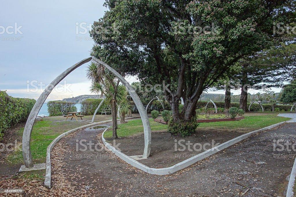 Public park in Kaikoura stock photo