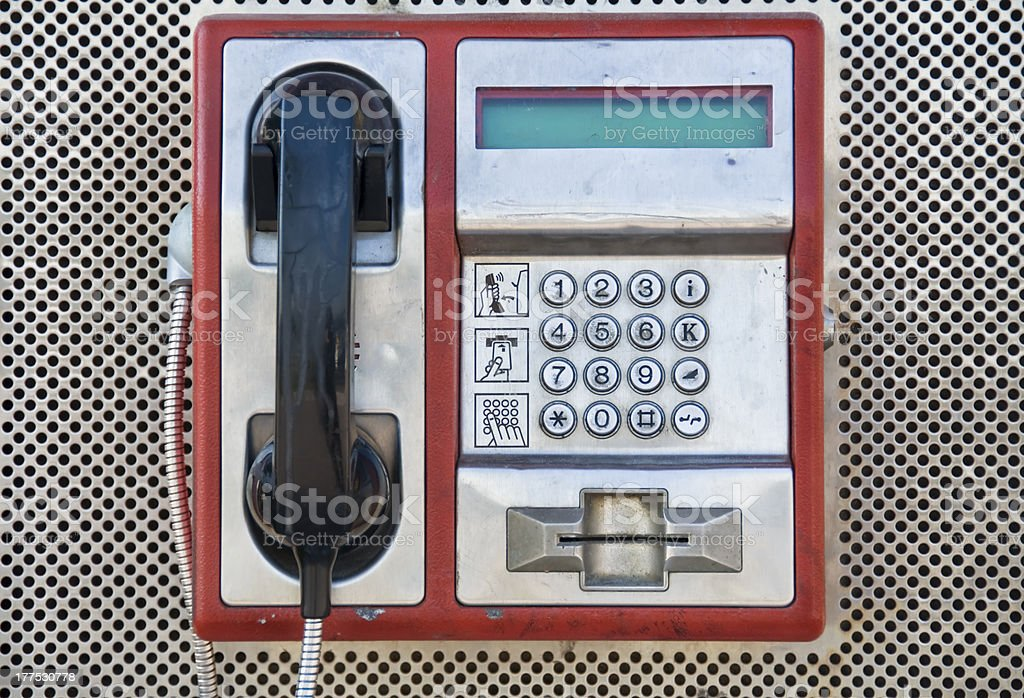 Public Pay Telephone royalty-free stock photo