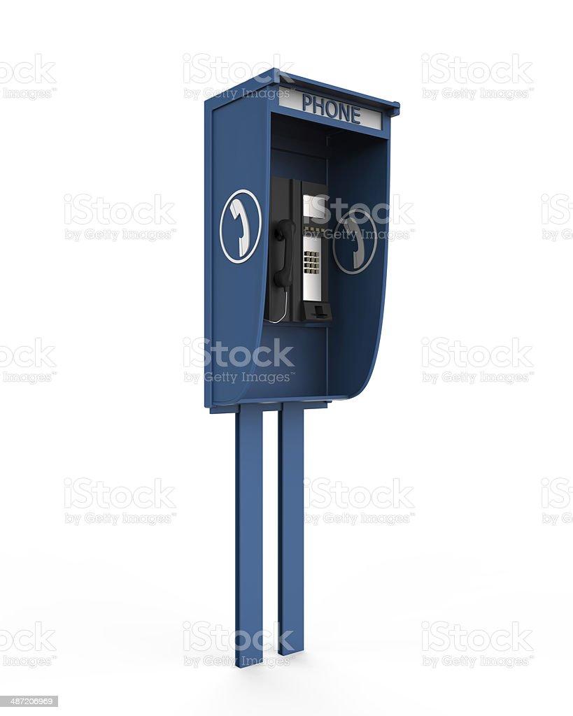 Public Payphone Isolated royalty-free stock photo