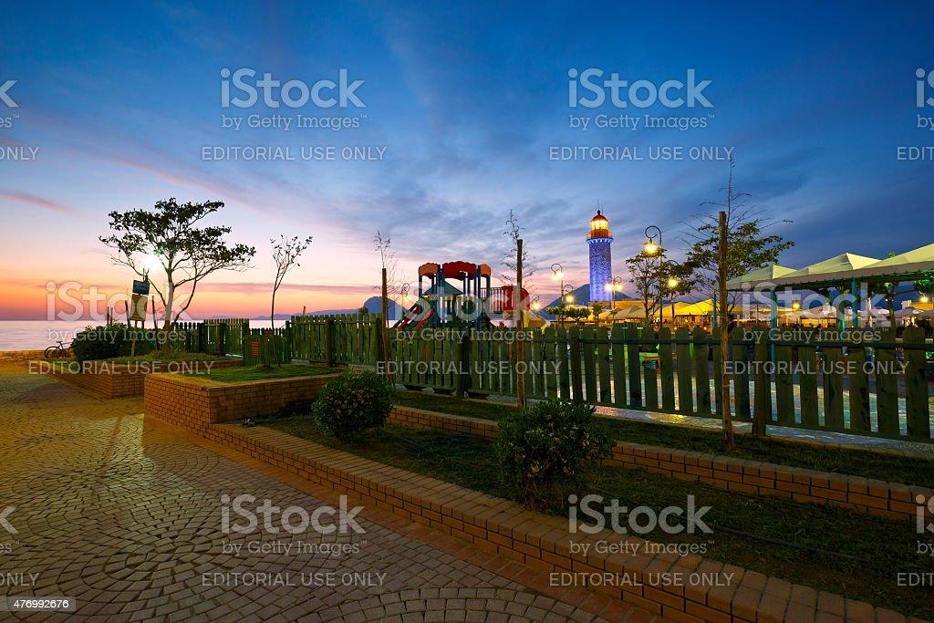 Public playground, Patras. stock photo