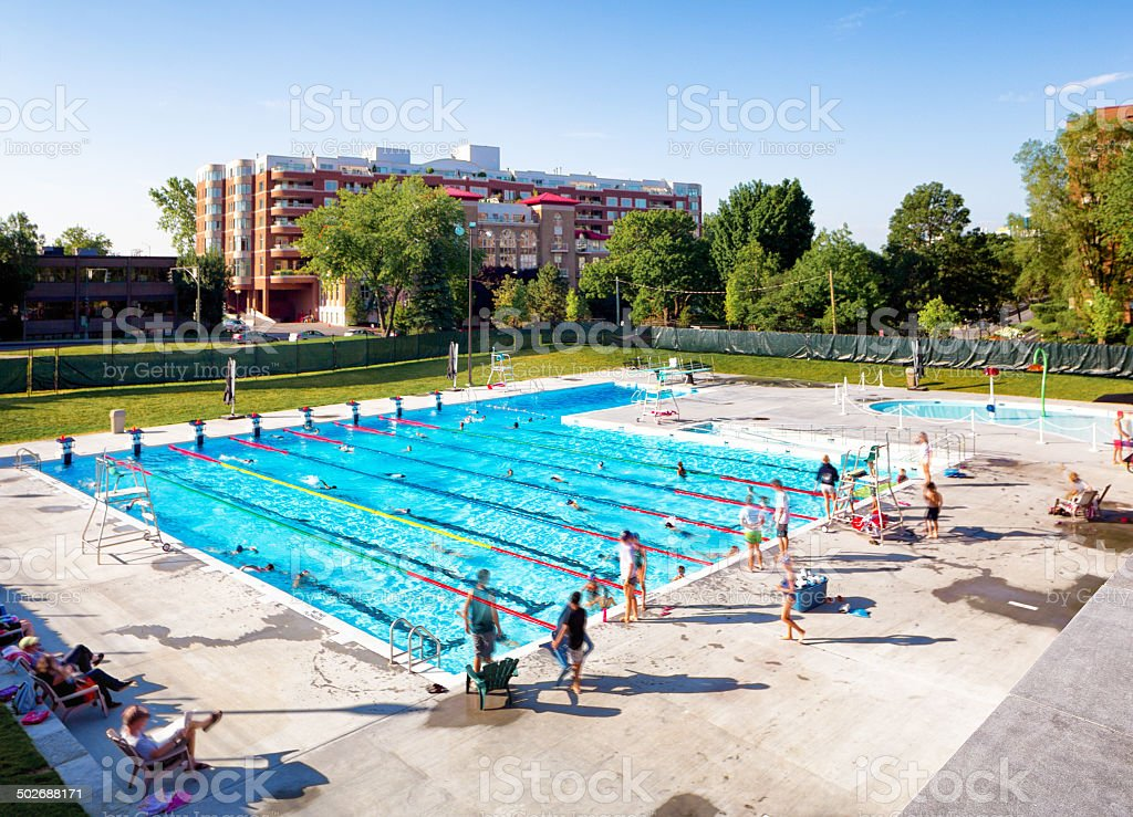 Public pool royalty-free stock photo