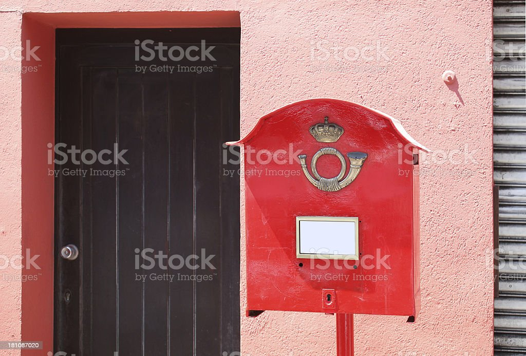 Public Post Box royalty-free stock photo