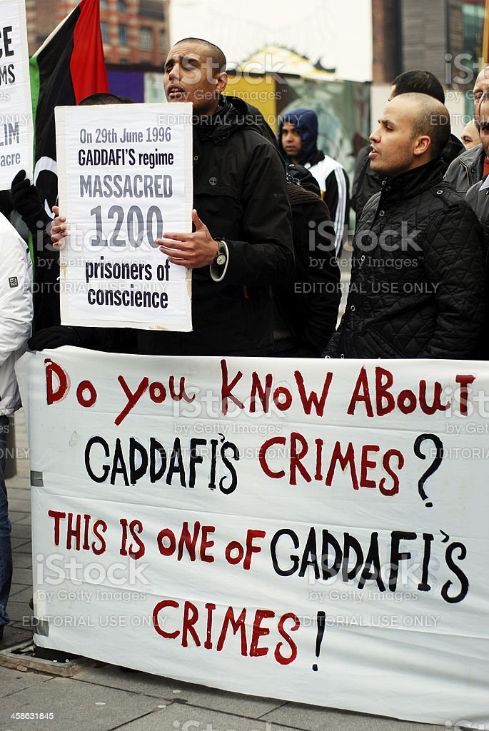 Public protest against Libyan problems in Liverpool stock photo