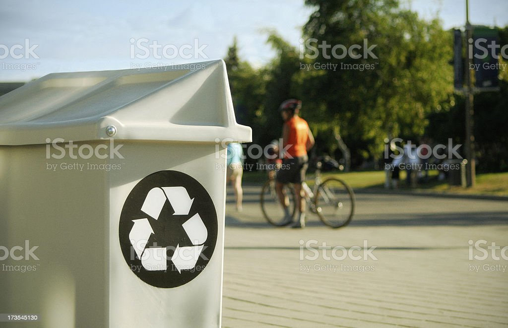 Public recycling bin royalty-free stock photo