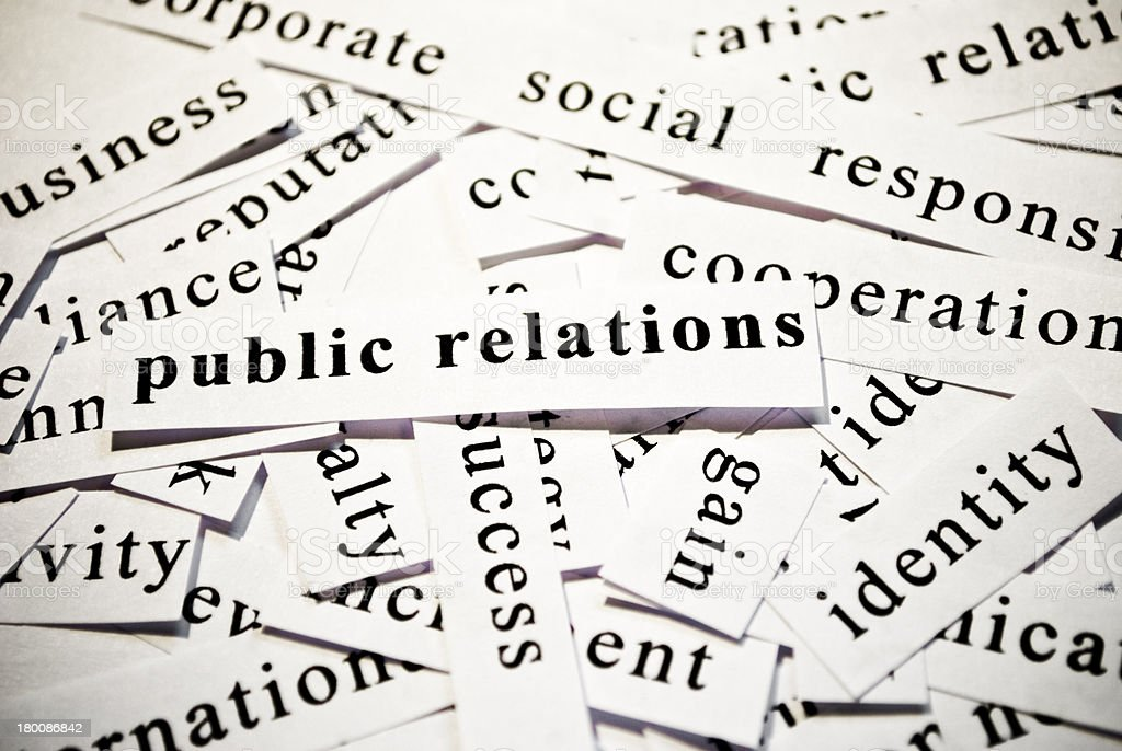 Public Relations. Concept of words related with business royalty-free stock photo