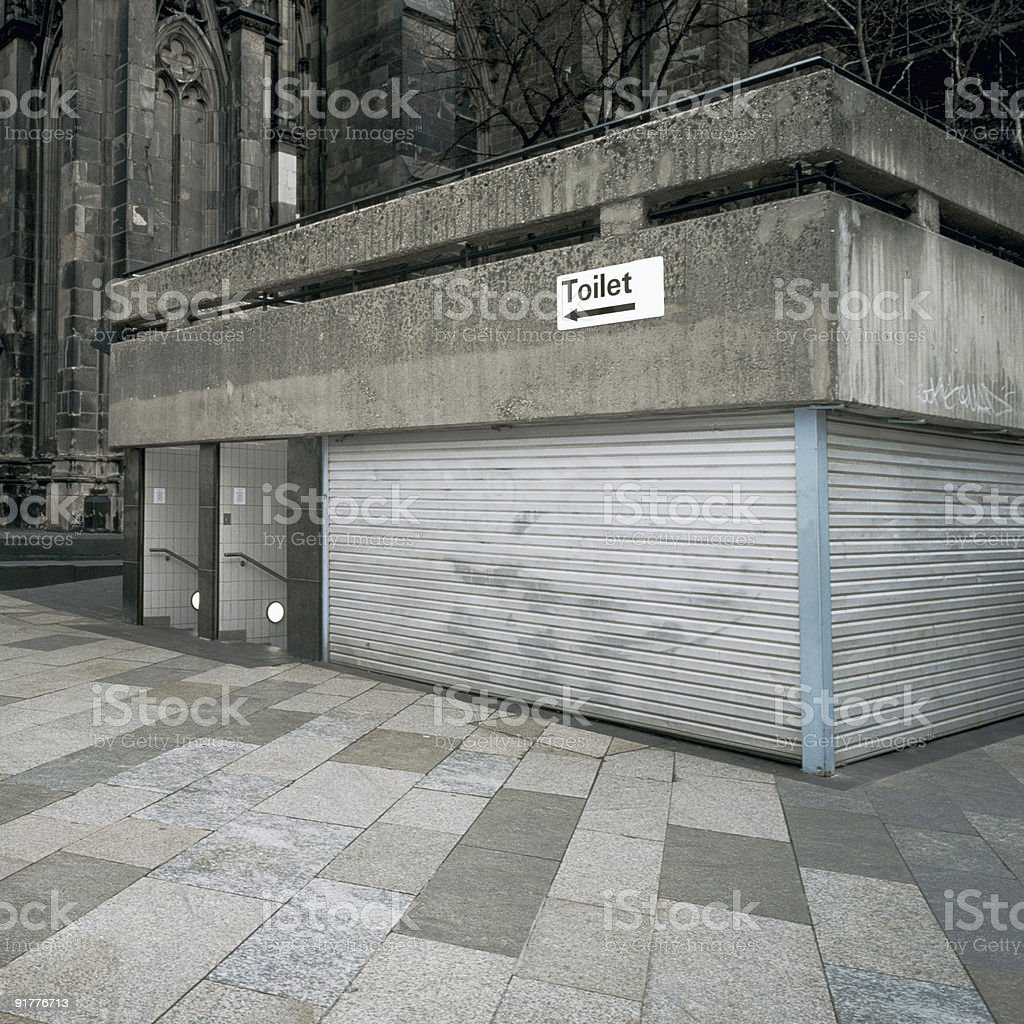 Public Restroom, Germany royalty-free stock photo