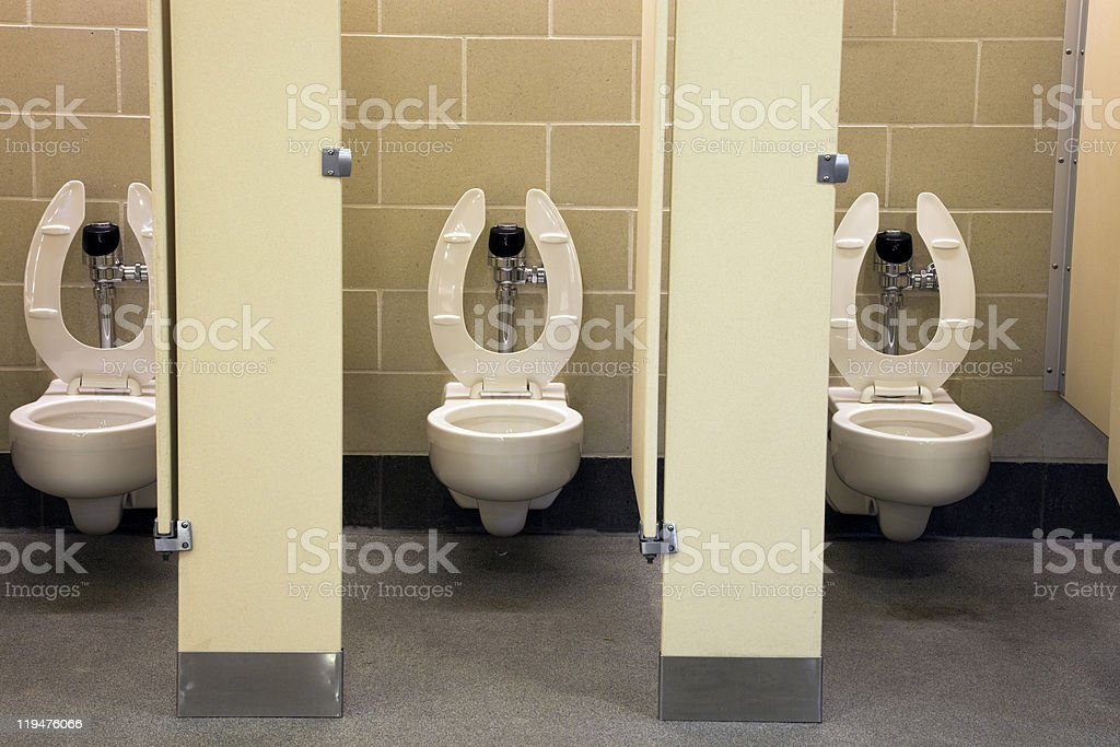 Public restroom royalty-free stock photo