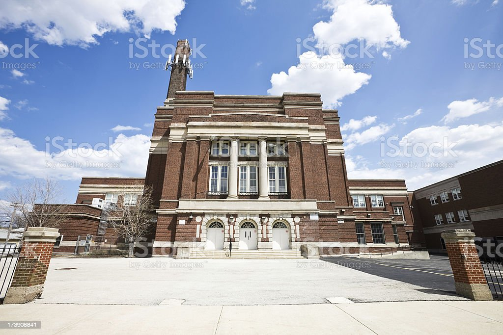 Public School Northwest Chicago stock photo
