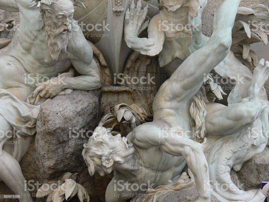 Public Sculpture Vienna stock photo