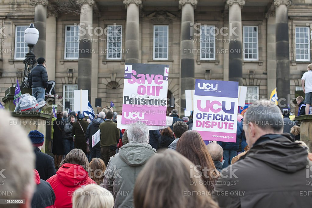 Public Sector Workers Protest in Lancaster stock photo