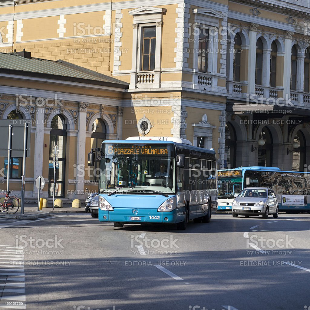 Public Service vehicle in the city of Trieste, Italy royalty-free stock photo