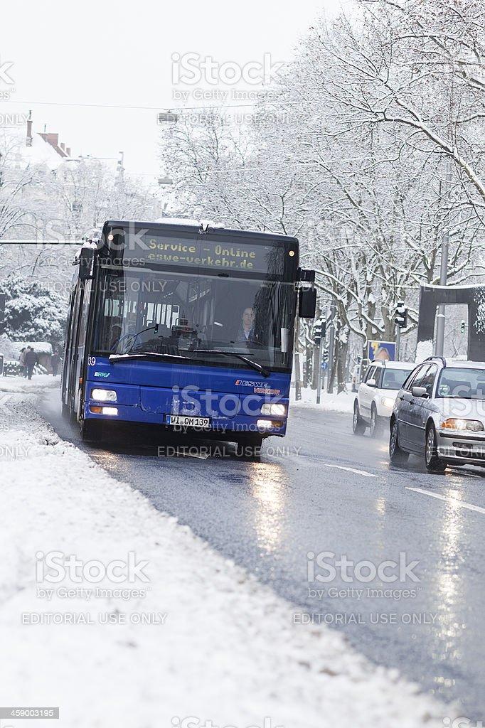 Public Service vehicle of ESWE Wiesbaden royalty-free stock photo