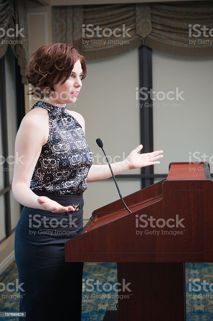 Public Speaker royalty-free stock photo