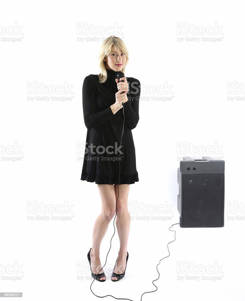 Public speaking royalty-free stock photo