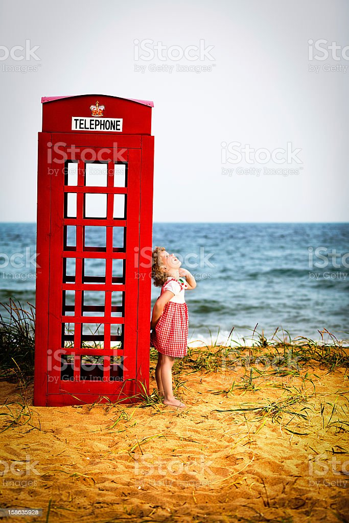 Public telephone booth royalty-free stock photo