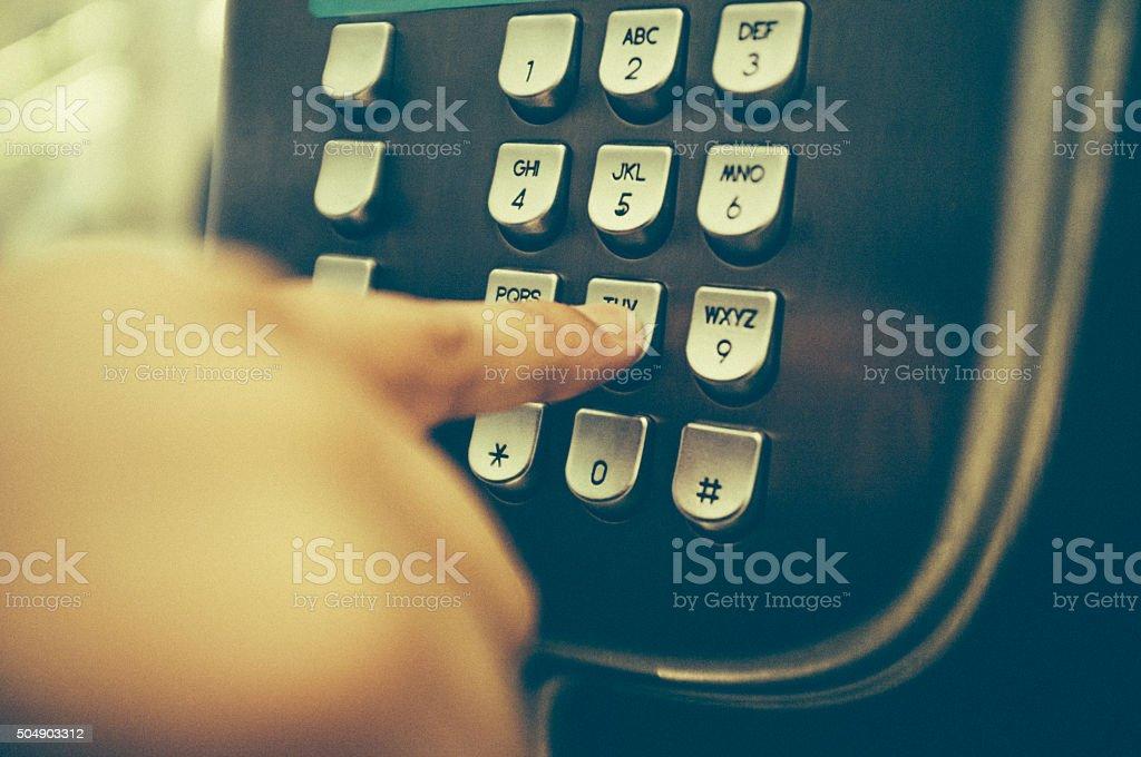 Public Telephone Booth stock photo