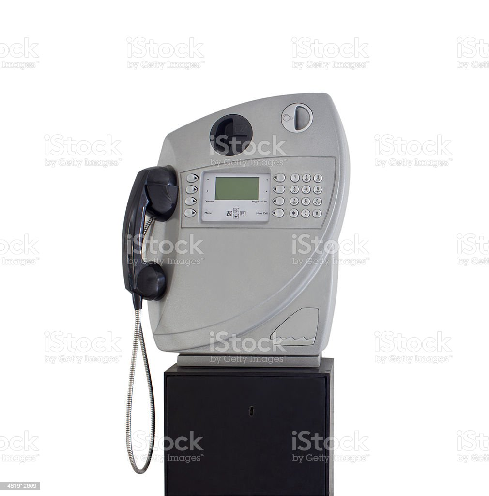 public telephone in Thailand isolated on white royalty-free stock photo