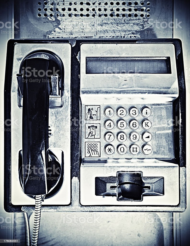 Public telephone royalty-free stock photo