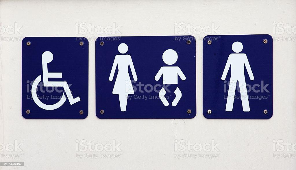 Public Toilet sign stock photo
